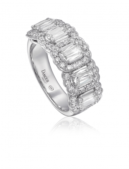 Christopher Designs L'Amour Crisscut Diamond Band - Nazar's & Co.