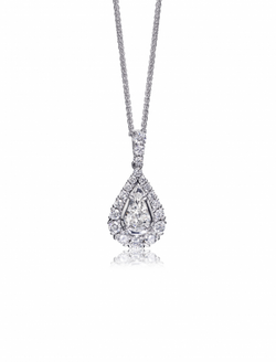 Christopher Designs L'Amour Crisscut Pear Diamond Necklace, Necklaces, Nazar's & Co. - Nazar's & Co.
