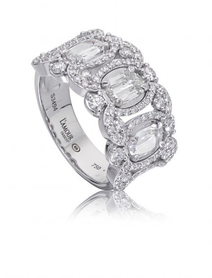 Christopher Designs L'Amour Crisscut Diamond Anniversary Band - Nazar's & Co.