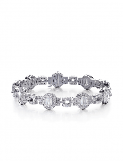 Christopher Designs L'Amour Crisscut Diamond Bracelet, Bracelets, Nazar's & Co. - Nazar's & Co.