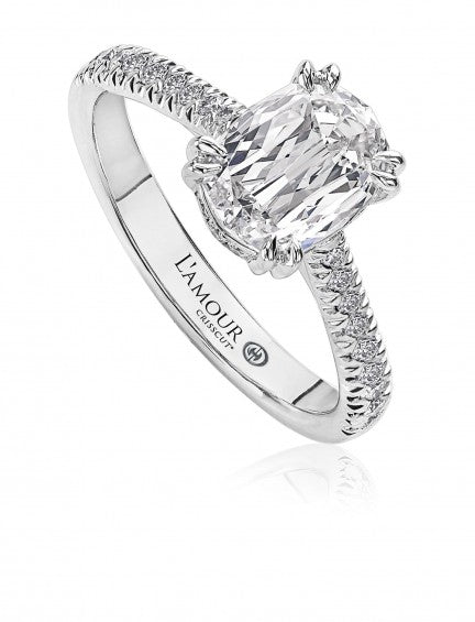 Christopher Designs L'Amour Crisscut Oval Diamond Engagement Ring, Rings, Nazar's & Co. - Nazar's & Co.