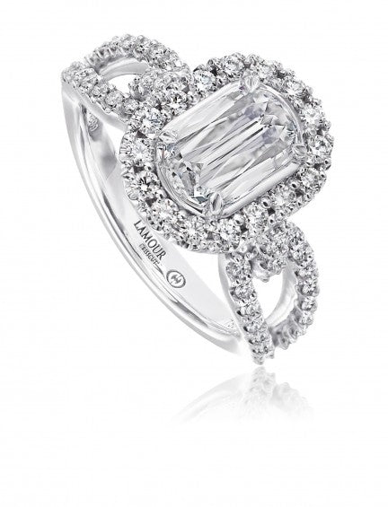 Christopher Designs Crisscut L'Amour Diamond Engagement Ring