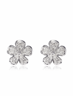 Christopher Designs L'Amour Crisscut Pear Diamond Earrings, Earrings, Nazar's & Co. - Nazar's & Co.