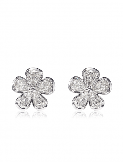 Christopher Designs L'Amour Crisscut Pear Diamond Earrings