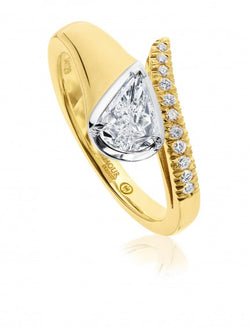 Christopher Designs L'Amour Crisscut Pear Diamond Engagement Ring, Rings, Nazar's & Co. - Nazar's & Co.