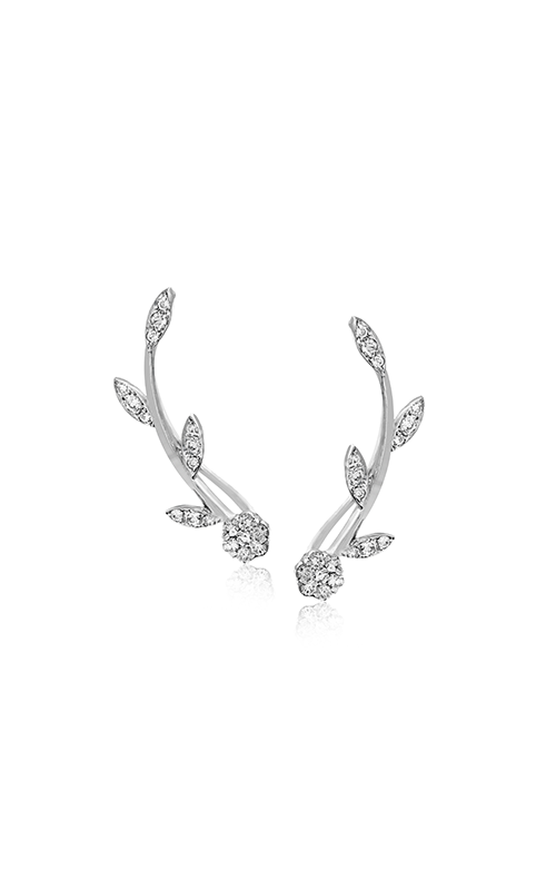 Garden Collection 18K White Gold Diamond Earrings, Earrings, Nazar's & Co. - Nazar's & Co.