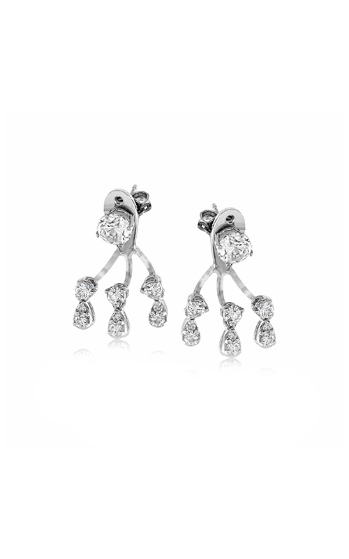 Classic Romance Collection 18K White Gold  Diamond Earrings, Earrings, Nazar's & Co. - Nazar's & Co.