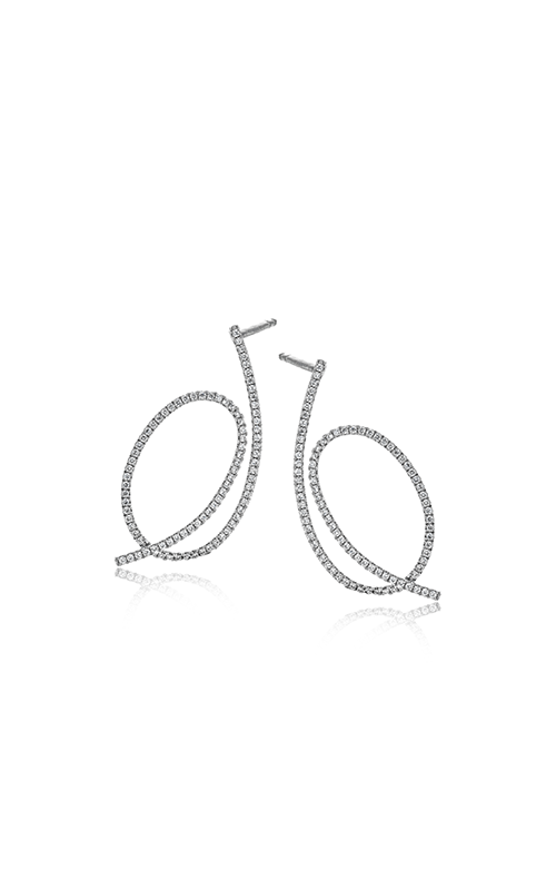 Modern Enchantment Collection 18K White Gold Diamond Earrings, Earrings, Nazar's & Co. - Nazar's & Co.