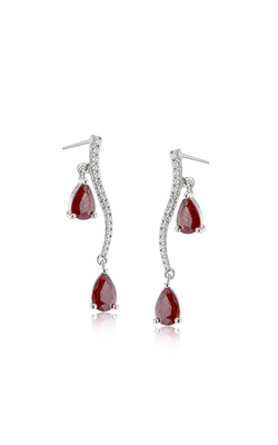 Passion Collection 18K White Gold Ruby and Diamond Earrings, Earrings, Nazar's & Co. - Nazar's & Co.