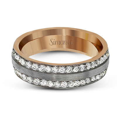 Simon G. 18K White and Yellow Gold Diamond Anniversary Band, Rings, Nazar's & Co. - Nazar's & Co.