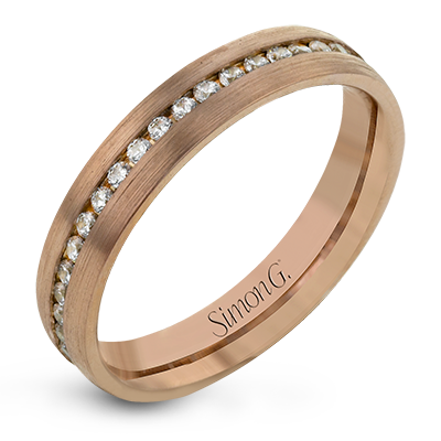 Simon G. 18K Rose Gold Diamond Anniversary Band, Rings, Nazar's & Co. - Nazar's & Co.
