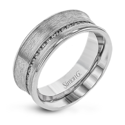 Simon G. 18K White Gold Diamond Anniversary Band, Rings, Nazar's & Co. - Nazar's & Co.