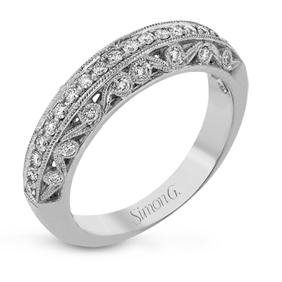 Simon G. 18K White Gold Diamond Men's Wedding Band, Rings, Nazar's & Co. - Nazar's & Co.