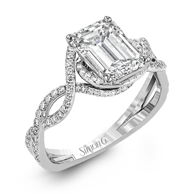 Simon G. 18K White Gold Engagement Ring, Rings, Nazar's & Co. - Nazar's & Co.