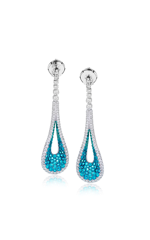 Midnight Collection 18K White Gold Tourmaline and Diamond Earrings, Earrings, Nazar's & Co. - Nazar's & Co.
