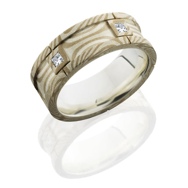 Lashbrook Mokume Textured Beadblast Men's Wedding Band, Rings, Nazar's & Co. - Nazar's & Co.