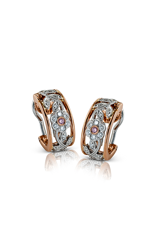 Garden Collection 18K Rose and White Gold Diamond Earrings, Earrings, Nazar's & Co. - Nazar's & Co.