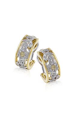 Garden Collection 18K Yellow and White Gold Diamond Earrings, Earrings, Nazar's & Co. - Nazar's & Co.