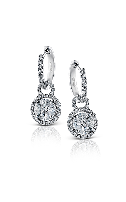Simon G. Mosaic Diamond Earrings, Earrings, Nazar's & Co. - Nazar's & Co.