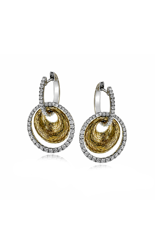 Classic Romance Collection 18K White and Yellow Gold Diamond Earrings, Earrings, Nazar's & Co. - Nazar's & Co.