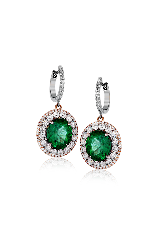 Simon G. Vintage Explorer Emerald and Diamond Earrings, Earrings, Nazar's & Co. - Nazar's & Co.