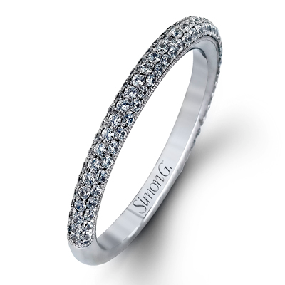 Simon G. Modern Enchantment Diamond Wedding Band, Rings, Nazar's & Co. - Nazar's & Co.