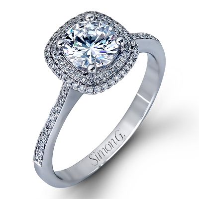 Delicate Collection 18K White Gold Engagement Ring Setting, Rings, Nazar's & Co. - Nazar's & Co.