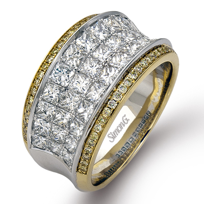 Simon G. 18K White and Yellow Gold Diamond Men's Wedding Band, Rings, Nazar's & Co. - Nazar's & Co.