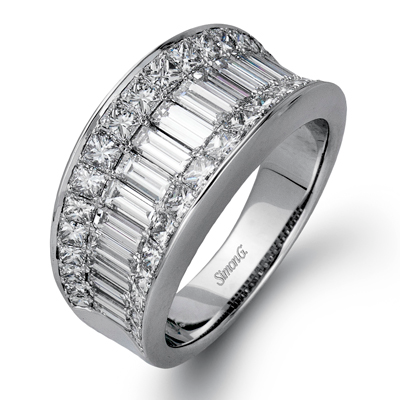 Simon G. 18K White Gold and Diamond Men's Wedding Band, Rings, Nazar's & Co. - Nazar's & Co.