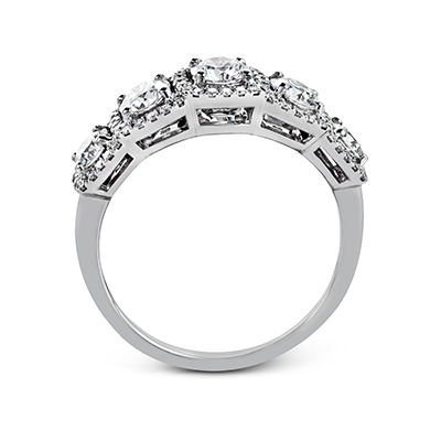 Simon G. 18K White Gold and Diamond Anniversary Band, Rings, Nazar's & Co. - Nazar's & Co.