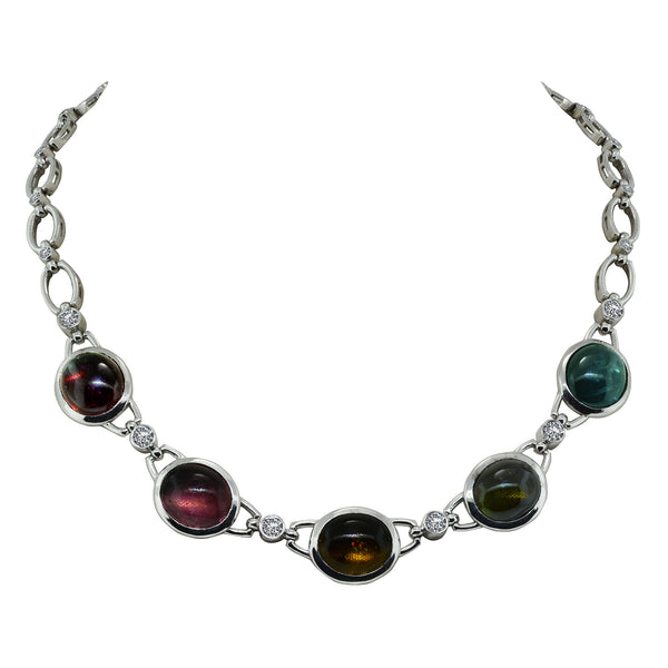 Tourmaline and Diamond Necklace - Nazar's & Co.