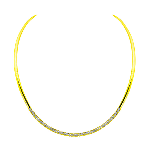 14K Yellow Gold & Diamond Necklace - Nazar's & Co.