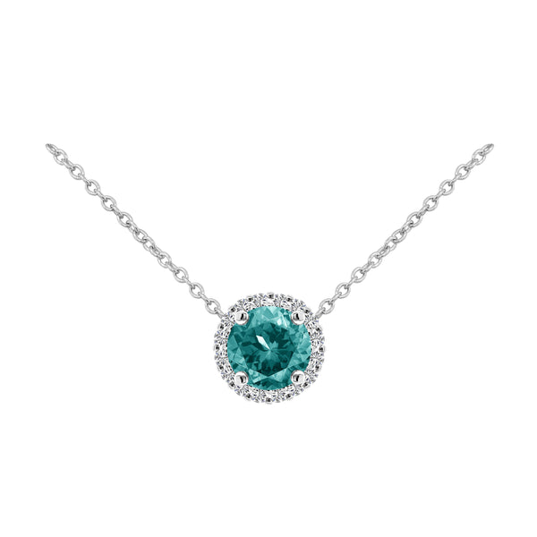 Aquamarine and Diamond Pendant Necklace - Nazar's & Co.