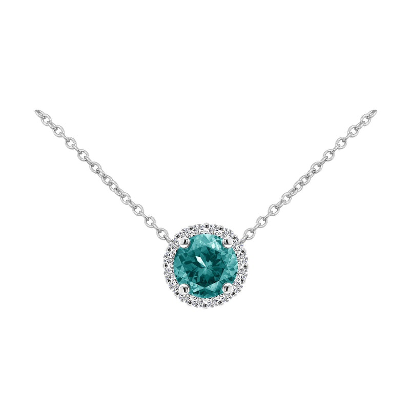 Nazar's Collection Aquamarine and Diamond Pendant Necklace, Necklaces, Nazar's & Co. - Nazar's & Co.