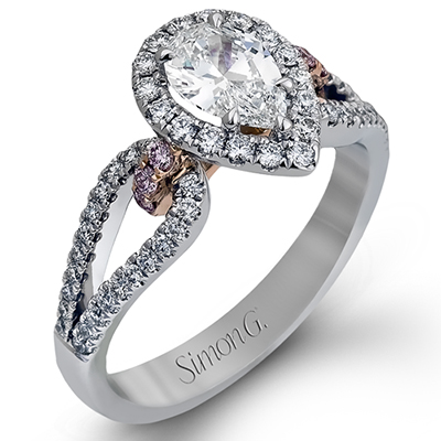 Simon G. 18K White and Rose Gold Engagement Ring, Rings, Nazar's & Co. - Nazar's & Co.