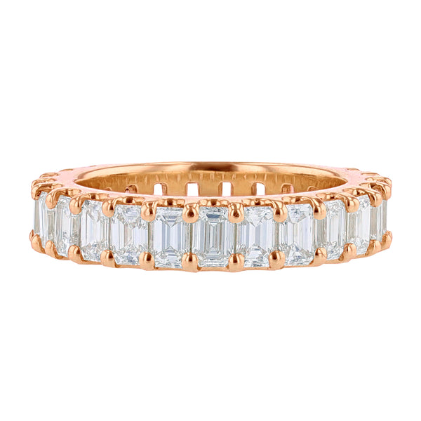 Nazarelle 14K Rose Gold Emerald Cut Diamond Eternity Band, Rings, Nazar's & Co. - Nazar's & Co.