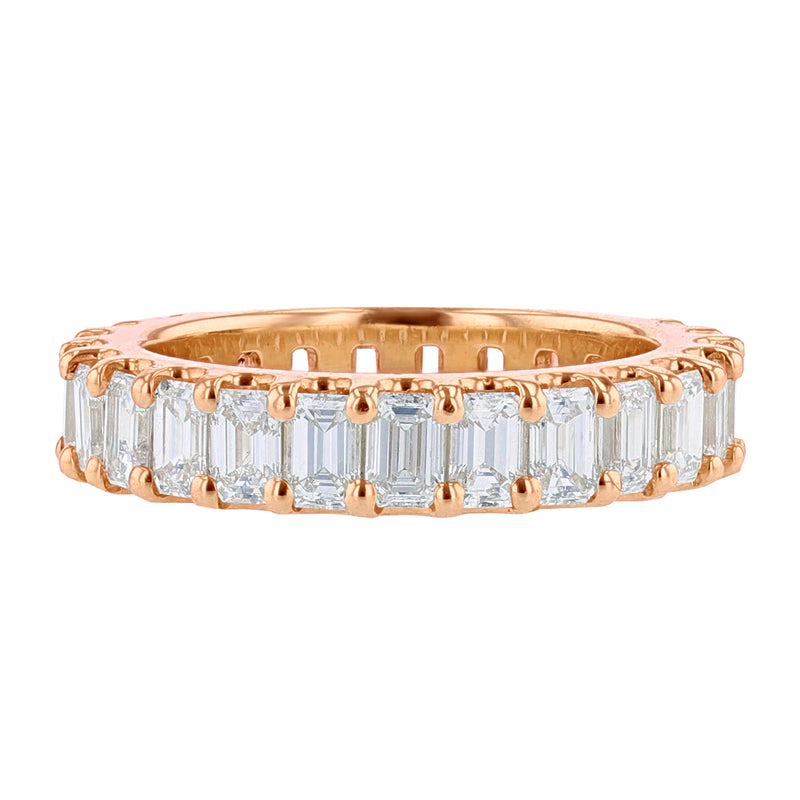 14K Rose Gold Emerald Cut Diamond Eternity Band, Rings, Nazar's & Co. - Nazar's & Co.