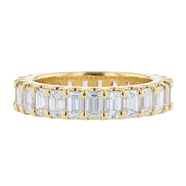 Nazarelle 18K Yellow Gold Emerald Cut Diamond Eternity Band, Rings, Nazar's & Co. - Nazar's & Co.
