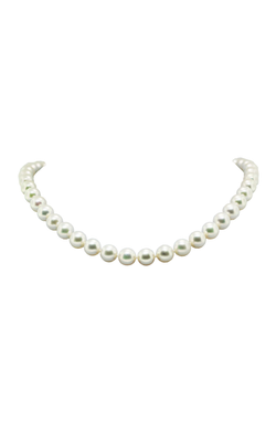 14K Yellow Gold Cultured Pearl Necklace, Necklaces, Nazar's & Co. - Nazar's & Co.