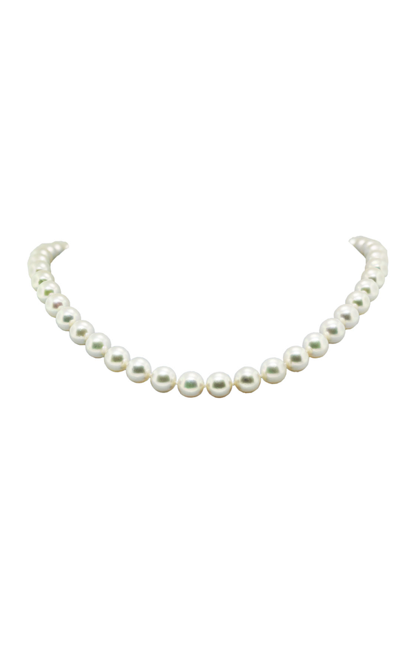 14K Yellow Gold Cultured Pearl Necklace - Nazar's & Co.