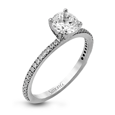 Classic Romance Collection 18K White Gold Wedding Set, Rings, Nazar's & Co. - Nazar's & Co.