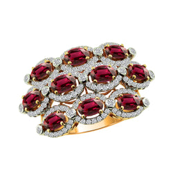 18K Rose Gold Ruby and Diamond Ring - Nazar's & Co.