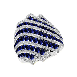 Nazar's Collection Blue Sapphire and Diamond Ring, Rings, Nazar's & Co. - Nazar's & Co.