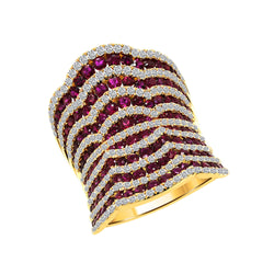 Nazar's Collection Ruby and Diamond Ring, Rings, Nazar's & Co. - Nazar's & Co.