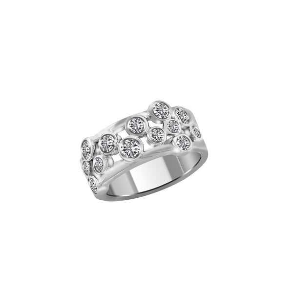 14K White Gold and Diamond Ring, Rings, Nazar's & Co. - Nazar's & Co.