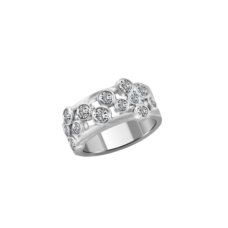 14K White Gold and Diamond Ring - Nazar's & Co.