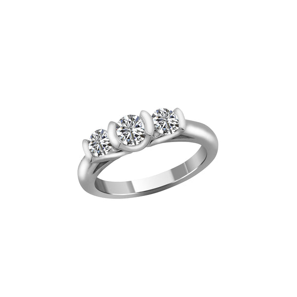 14K White Gold and Diamond Engagement Ring, Rings, Nazar's & Co. - Nazar's & Co.