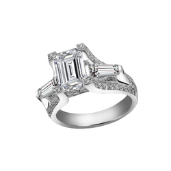 14K White Gold Diamond Engagement Ring, Rings, Nazar's & Co. - Nazar's & Co.