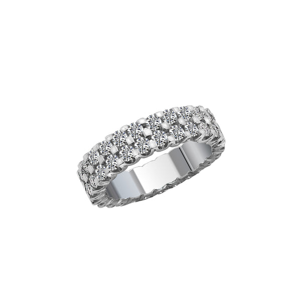 14K White Gold and Diamond Eternity Band, Rings, Nazar's & Co. - Nazar's & Co.