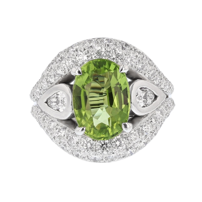 Nazar Couture Peridot and Diamond Cocktail Ring, Rings, Nazar's & Co. - Nazar's & Co.